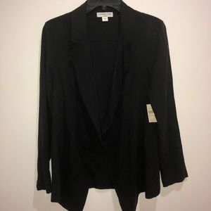 Coldwater Creek Size 4 Black 100% Silk Long Jacket